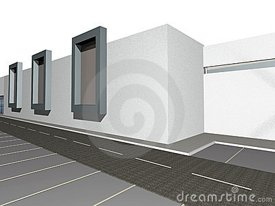 3D render of modern building exterior