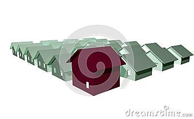 3D render of modern houses