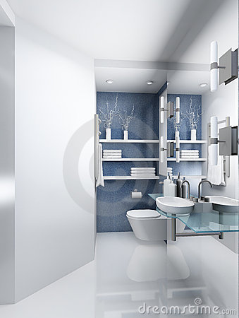 Free 3D Render Modern Interior Of Toilet Royalty Free Stock Photography - 4698447