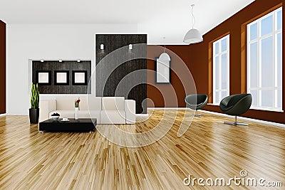 3d render of a modern interior room
