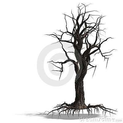 Free 3D Render Of A Dead Tree Without Leafs Royalty Free Stock Photography - 9343997