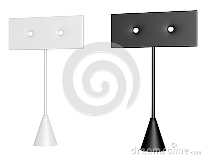 3d Render of a Pair of Earring Stands