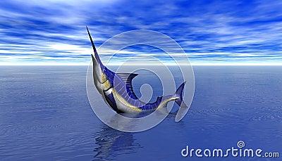 3D Render of a Shark Attack