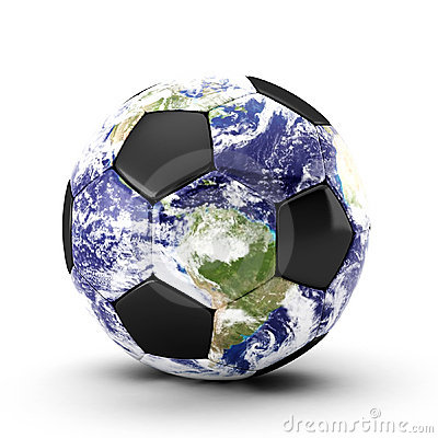 3d render of  soccer ball on white