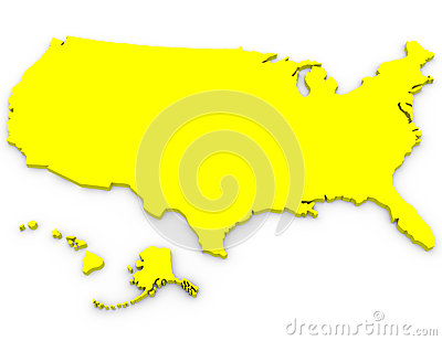 3d Render of the United States