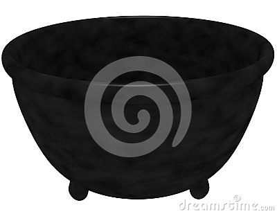 3d Render of a Witches Cauldron