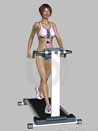 3D Render Woman Exercising