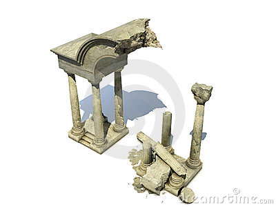 3D rendered  ancient temple ruins