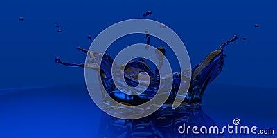 3D rendered blue xray slpash
