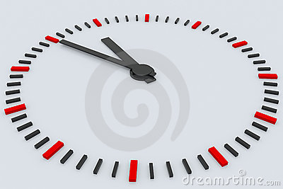 3D rendered clock