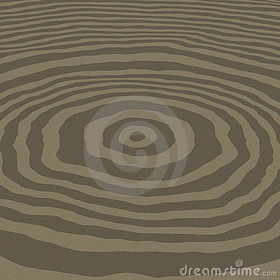 3D rendered concentric circles
