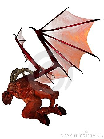 3D rendered demon