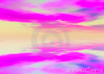 3d Rendered Distant Skyscape