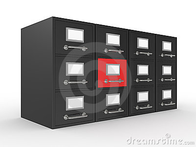 3D rendered file drawer