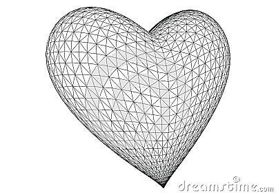3d rendered heart vector