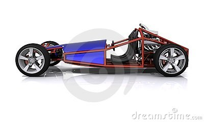 3D rendered Hobby Sports Car