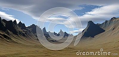 3D rendered landscape