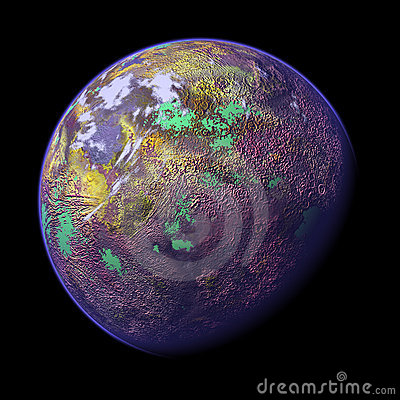 3d rendered planet 1