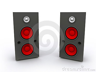 3D rendered  Speaker Set