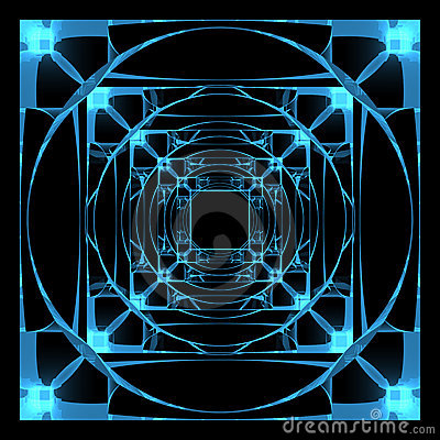 3D rendered xray transparent hyper cube
