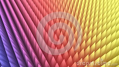 3d rendering of abstract colorful pyramid array
