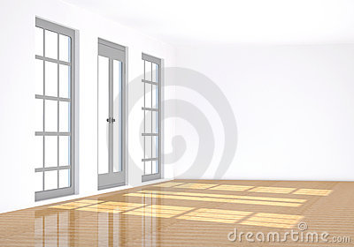3d, rendering the empty room
