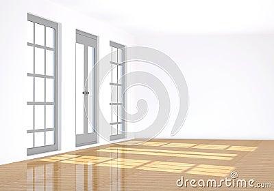 3d, rendering the empty room