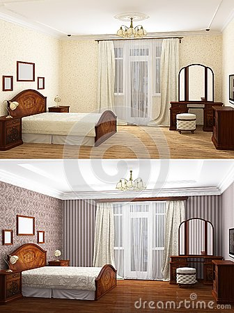 3D rendering of home bedroom