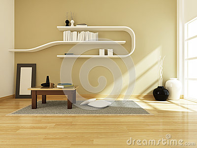 3d rendering of interior modern room