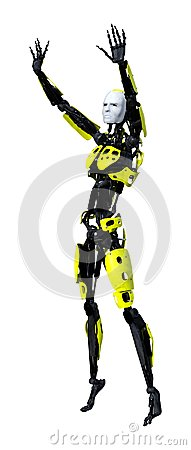Free 3D Rendering Male Robot On White Royalty Free Stock Photo - 121503065