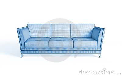 3d rendering of a modern sofa