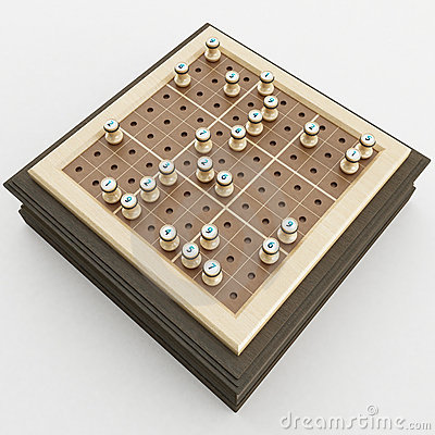 Free 3d Rendering Of A Sudoku Board Stock Image - 19378061