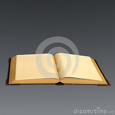 Free 3D Rendering Of An Old Book Open With Blank Pages Royalty Free Stock Photos - 144755428