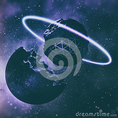 Free 3D Rendering Of Creation Of Planets In Deep Space Stock Photo - 118686550