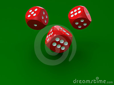 3D rendering of redl dices