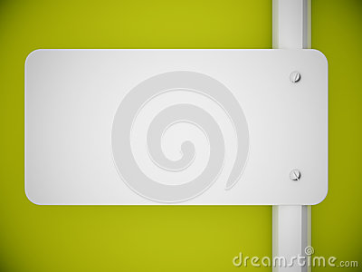3d rendering signboard and green wall