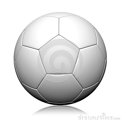 3d rendering of a soccer ball