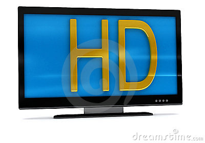 3D rendering of tv,lcd monitor on white