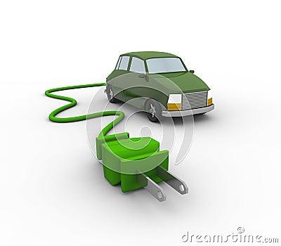 3D representation of an Electric Car