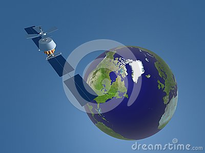3D representation of Satellite in space