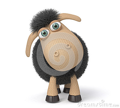 Free 3d Ridiculous Sheep. Stock Image - 64447551