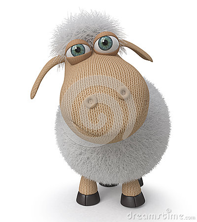 Free 3d Ridiculous Sheep Stock Image - 65521091
