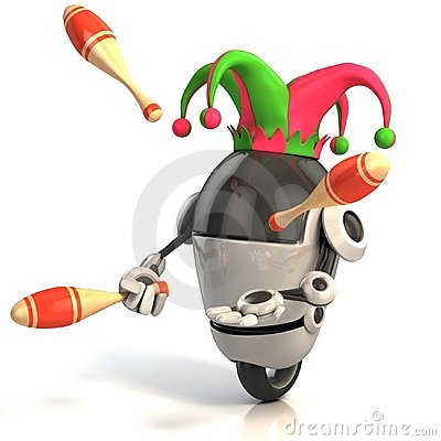 3d robot jester - entertainer