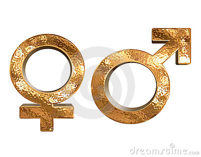 3d rodzaju złoci odosobneni deseniowi płci symbole