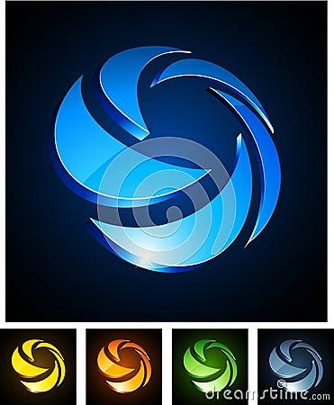 3d rotate emblems.