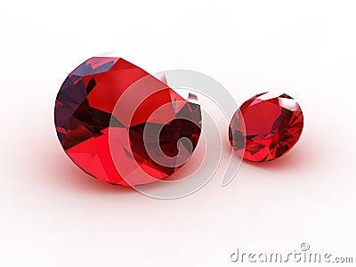 3D Round garnet stones