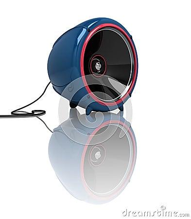 3D round speaker