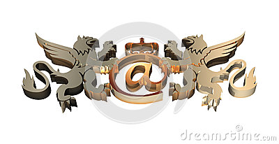 3D Royal Email Symbol