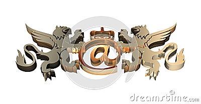 3D Royal Email Symbol