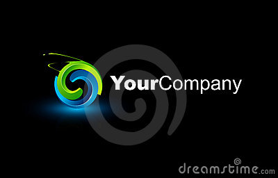 3d rozjarzony abstrakta logo